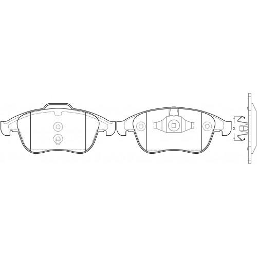 Set pastillas de freno Renault Latitude 3.5 V6 2011